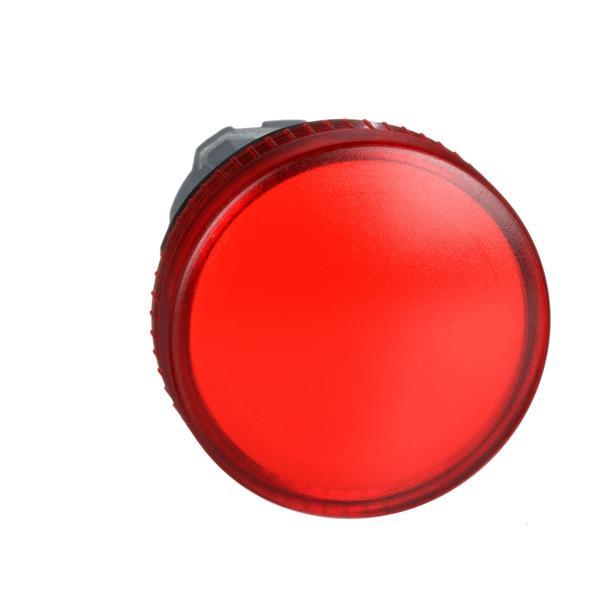 TELEMECANIQUE - Tête pour voyant - Ø22 - rond - cabochon lisse rouge pour ampoule BA9S