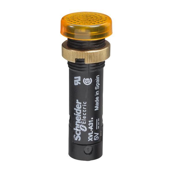 TELEMECANIQUE - Controlelamp rond Ø12 - IP40 - oranjegeel - ingebouwde LED - 24V - klemmen