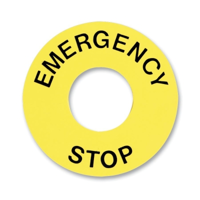 TELEMECANIQUE - etiket - Ø16 - Ø45 mm - EMERGENCY STOP
