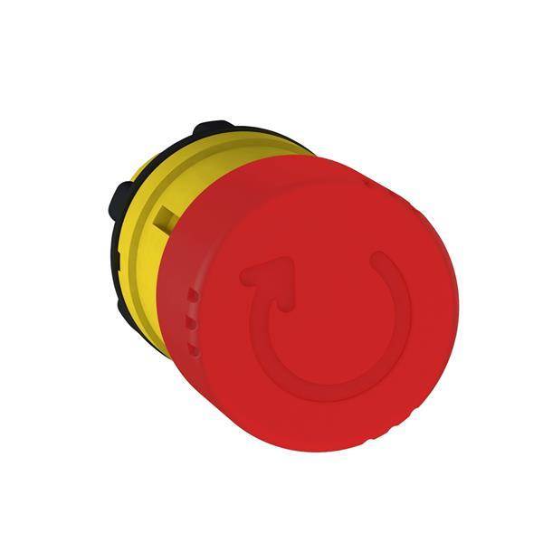 TELEMECANIQUE - tête pour Arrêt d'urgence Ø 30 - tourner pour déverrouiller - Ø 22  - rouge