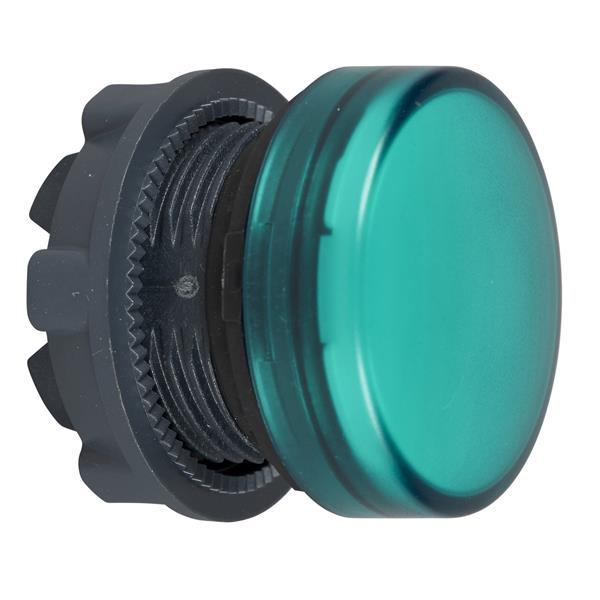 TELEMECANIQUE - tête pour voyant - Ø 22 - rond - cabochon lisse vert