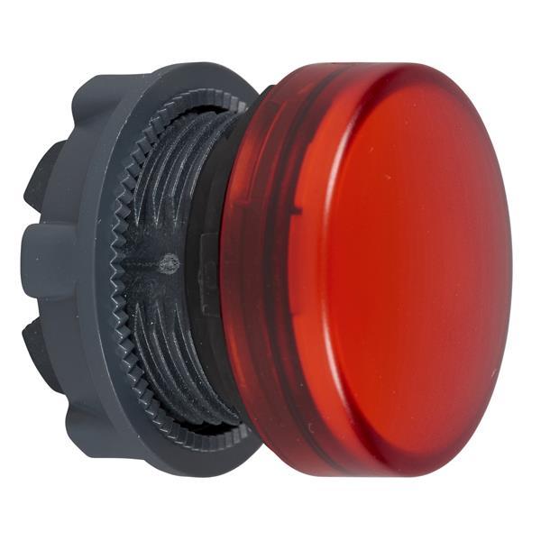 TELEMECANIQUE - kop voor lampje - Ø22 - rond - glad kapje rood
