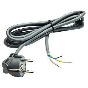 ELIMEX BVBA - Câble secteur - Fiche 2P+T mâle - 3 x 0,75mm² - H05VV-F - Noir - 1,8m