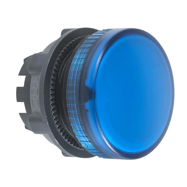TELEMECANIQUE - tête pour voyant - Ø 22 - rond - cabochon lisse bleu