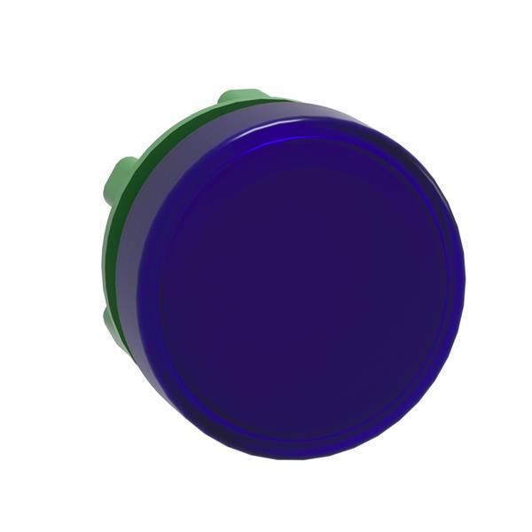 TELEMECANIQUE - kop voor lampje - Ø22 - rond - glad kapje blauw