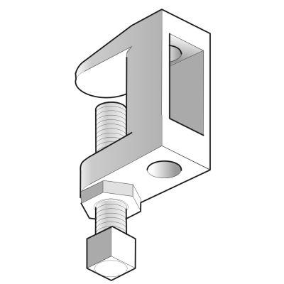 VERGOKAN - Spanklem voor draadstang D = M10, uitvoering: elektrolytisch verzinkt