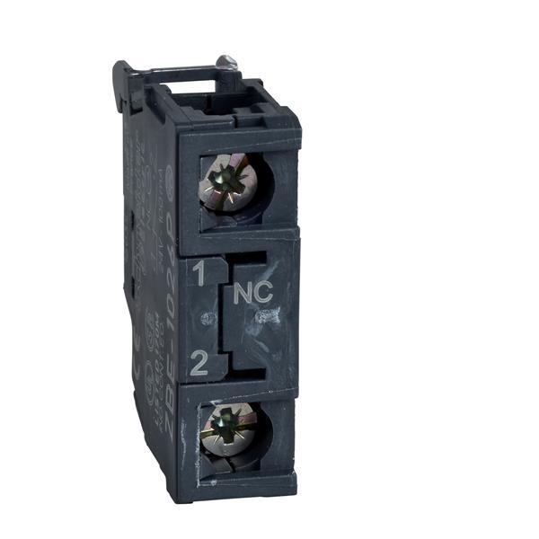 TELEMECANIQUE - bloc contact pour bouton - ZBE Ø 22 - 1O doré
