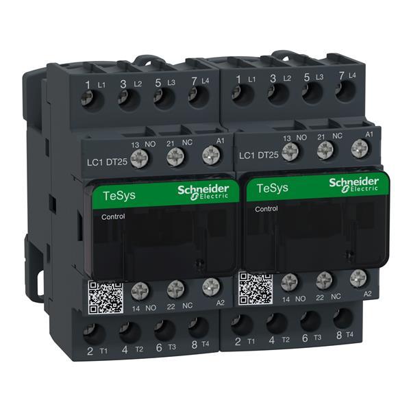 TELEMECANIQUE - Contacteur inverseur 25A AC-1 - 4P 1NO 1NC - 230V AC 50...60Hz