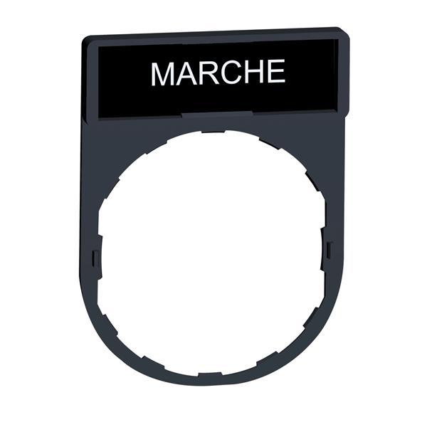 TELEMECANIQUE - etikethouder 30 x 40 mm standaard - Ø 22 - met etiket MARCHE