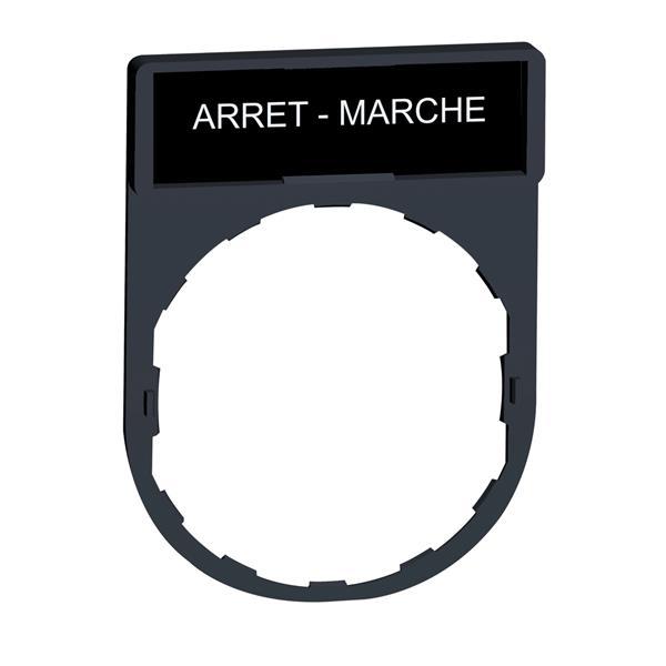 TELEMECANIQUE - etikethouder 30 x 40 mm standaard - Ø 22 - met etiket ARRET-MARCHE