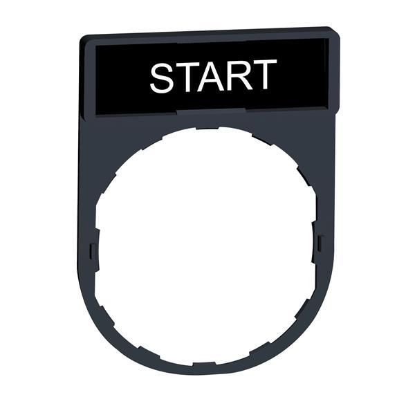 TELEMECANIQUE - etikethouder 30 x 40 mm standaard - Ø 22 - met etiket START