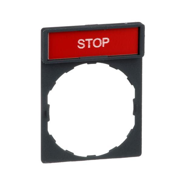 TELEMECANIQUE - porte étiquette 30 x 40 mm standard - Ø 22 - avec étiquette STOP