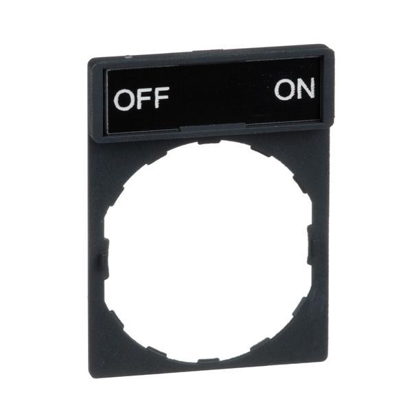 TELEMECANIQUE - porte étiquette 30 x 40 mm standard - Ø 22 - avec étiquette OFF-ON