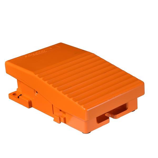 TELEMECANIQUE - Enkelvoudige voetschakelaar XPE-R zonder beschermkap metaal oranje 2NC+2NO