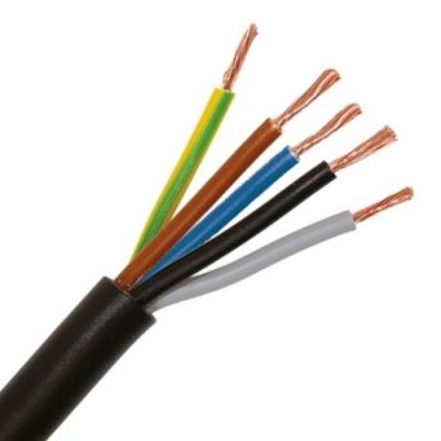 CABLEBEL - H05VV-F VTMB verbindingskabel PVC flexibel gladde mantel 500V zwart 5G0,75mm²