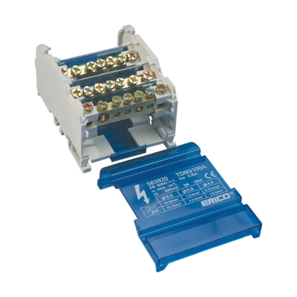 ERICO - Répartiteur tétrapolaire 80/100A - 6 connexions