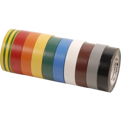 3M - Temflex 1500 ruban isolant électrique vinyl 15mm x 10m arc-en-ciel 10 couleurs
