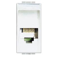 BTICINO - Connecteur RJ 11 Light type K10 pour téléphone - fiche 2841/2 - 1 module