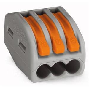 WAGO - Verbindingsklem 3-draads klem met hendels, grijs
