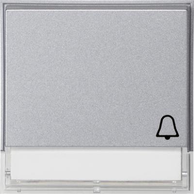GIRA - Manette symbole sonnette TX_44 (IP 44) teinte alu