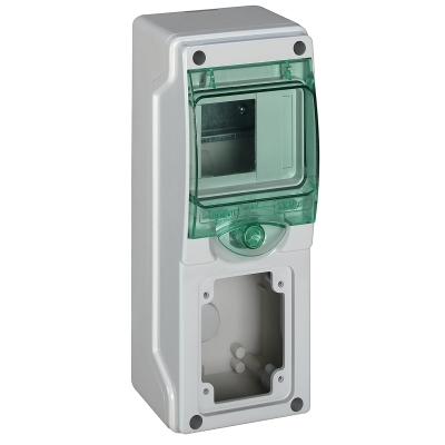 MERLIN GERIN - coffret mini Kaedra - pour prises - 98 x 248 mm - 4 modules - 1 ouverture