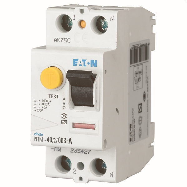 MOELLER - differentiel PFIM-40/2/03-A-MB, 2 poles, 40 A,  300 mA - Type A
