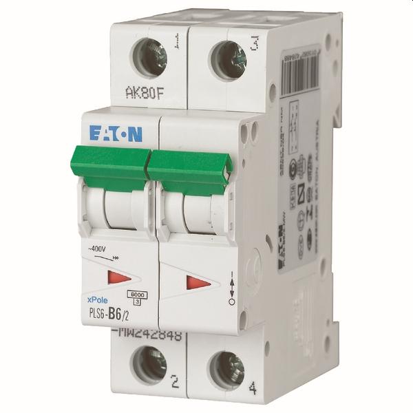 MOELLER - Disjoncteur PLS6-C6/2-MW , C 6A , 2 pôles , 6 kA