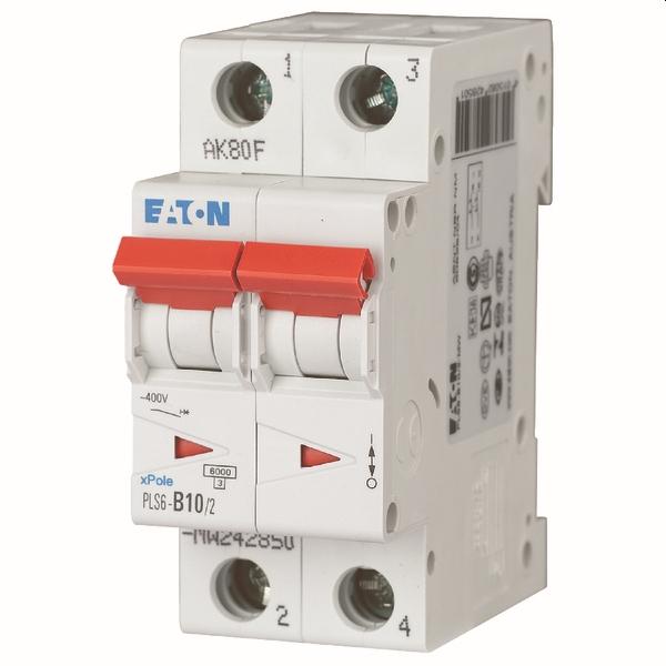 MOELLER - Disjoncteur PLS6-C10/2-MW , C 10A , 2 pôles , 6 kA