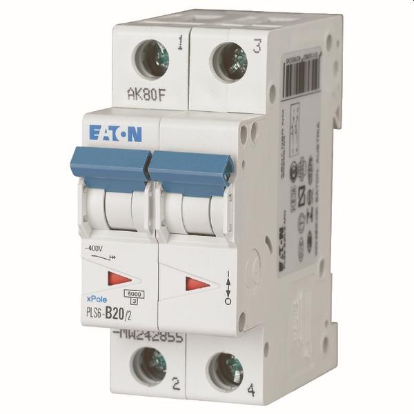 MOELLER - Disjoncteur PLS6-C20/2-MW , C 20A , 2 pôles , 6 kA