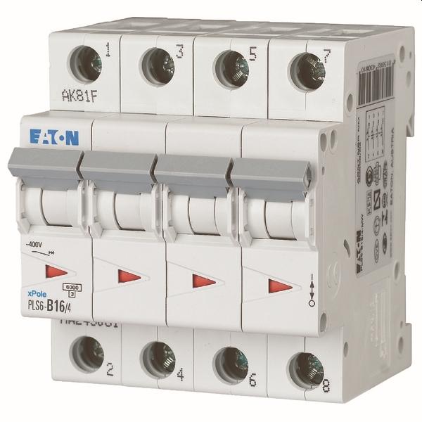MOELLER - Disjoncteur PLS6-C16/4-MW , C 16A , 4 pôles , 6 kA