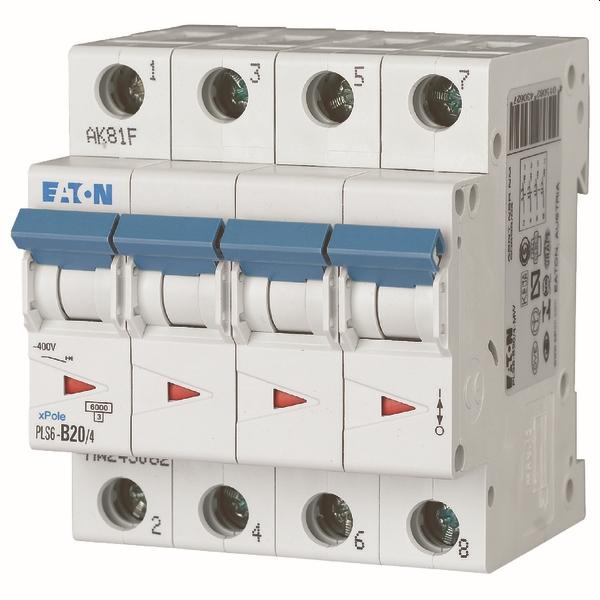 MOELLER - Disjoncteur PLS6-C20/4-MW , C 20A , 4 pôles , 6 kA