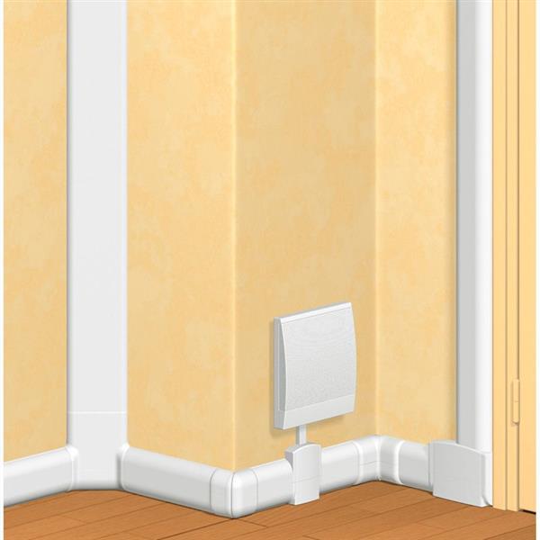 LEGRAND - Plinthe DLP sect. 80 x 20 mm blanc RAL 9010 - 2 comp. - 2m