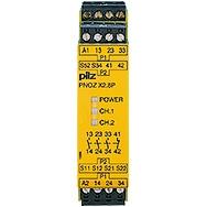Pilz - Surveillance d'arrêts d'urgence PNOZX2.8P 24VAC/DC 3NO1NC