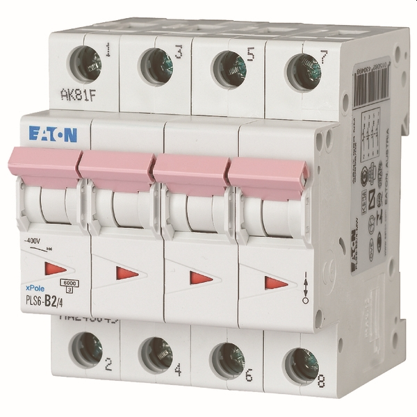 MOELLER - Disjoncteur PLS6-C2/4-MW , C 2A , 4 pôles , 6 kA