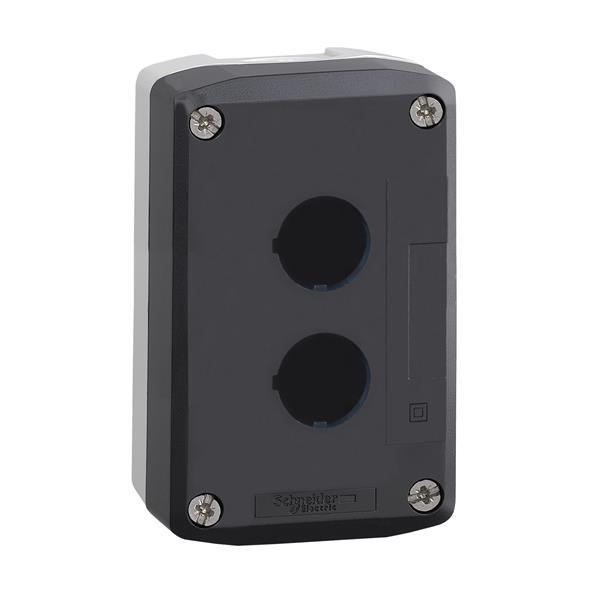 TELEMECANIQUE - boîte à boutons vide - XAL-D - plastique - 2 perçages horizontaux