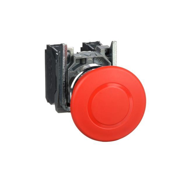 TELEMECANIQUE - Arrêt d'urgence rouge Ø22 - coup-de-poing Ø40 - pousser-tirer