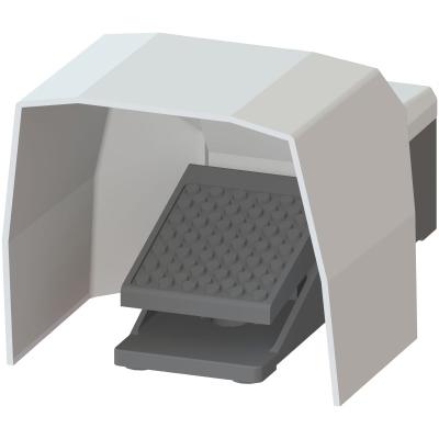 SIEMENS - Voetschakelaar met 1 pedaal, 2 schuifcontacten (1no1nc), metalen behuizing,+ kap