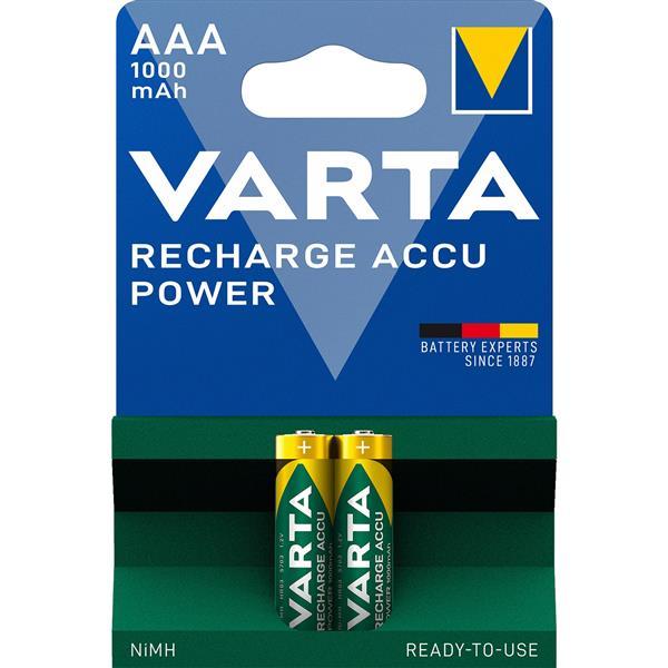 VARTA - PROFESSIONAL RECHARGEABLE ACCU oplaadbaar Ni-MH HR03/AAA 1,2volt 1000mAh bl2
