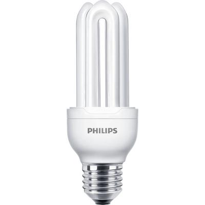PHILIPS - GENIE 18W E27 230V warm wit 2700K 1100lm CRI80 spaarlamp stick 10000u