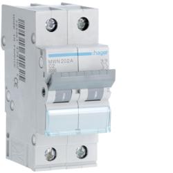 HAGER - Automaat 3kA - C - 2P - 2A - 2M