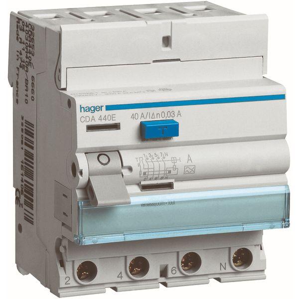 HAGER - Interrupteur différentiel 4P 40A 30mA type A