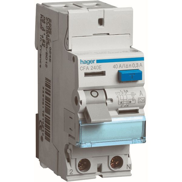 HAGER - Interrupteur différentiel 2P 40A 300mA type A
