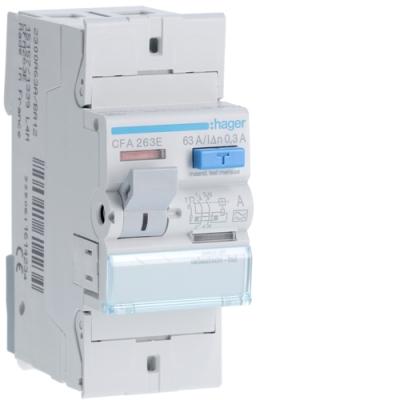 HAGER - Interrupteur différentiel 2P 63A 300mA type A