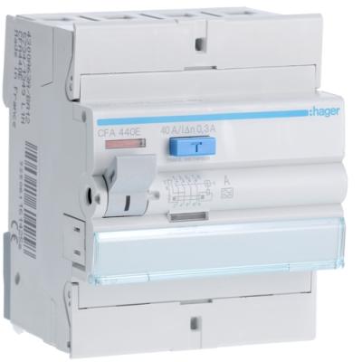 HAGER - Interrupteur différentiel 4P 40A 300mA type A