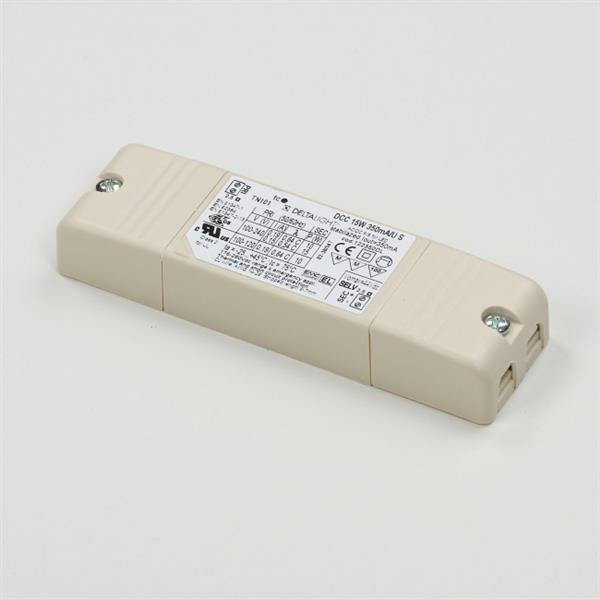DELTA LIGHT - Led voeding 15W 350mA 240V max. 12x1W Powerled 115x34x19mm IP20