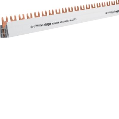 HAGER - Overbruggingsbaar 2P 63A met vorken 10mm² 18M