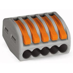 WAGO - Borne pour boîte de dérivation borne à 5 conducteurs avec levier de manipulatio