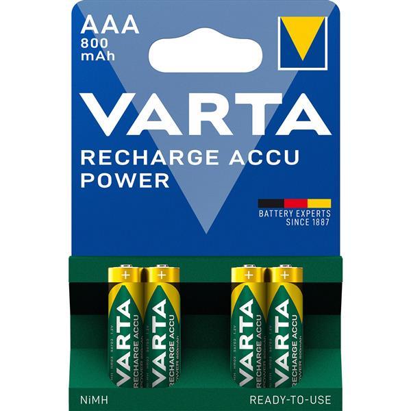 VARTA - Oplaadbare batterij READY2USE - AAA - 1,2V 800mAh NiMH - HR03 - blister 4 stuks