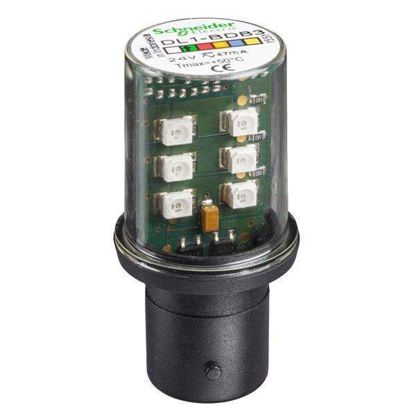 TELEMECANIQUE - signalisatielamp LED - groen - BA 15d - 24 V