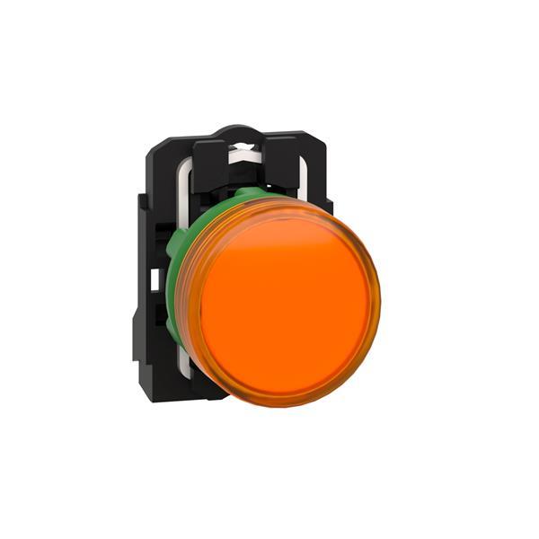 TELEMECANIQUE - controlelamp rond Ø 22 - IP 65 - geel - ingebouwde LED - 24 V - klemmen